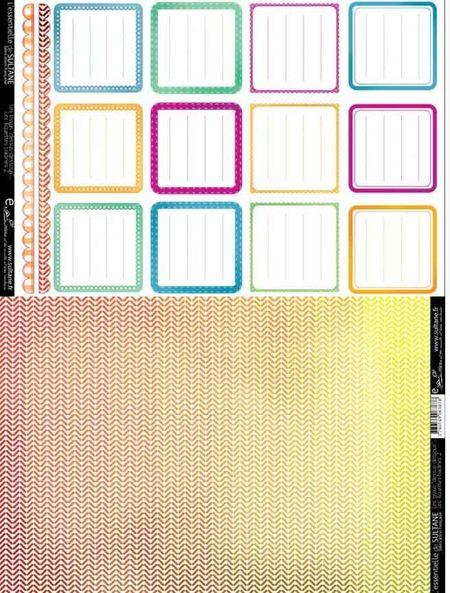 Etichette quadrate